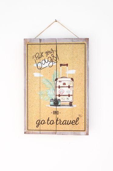 "Декоративная деревянная табличка ""Pack your bags!"""