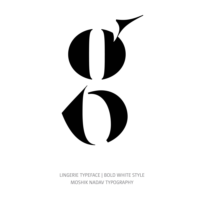 Lingerie Typeface Bold White g