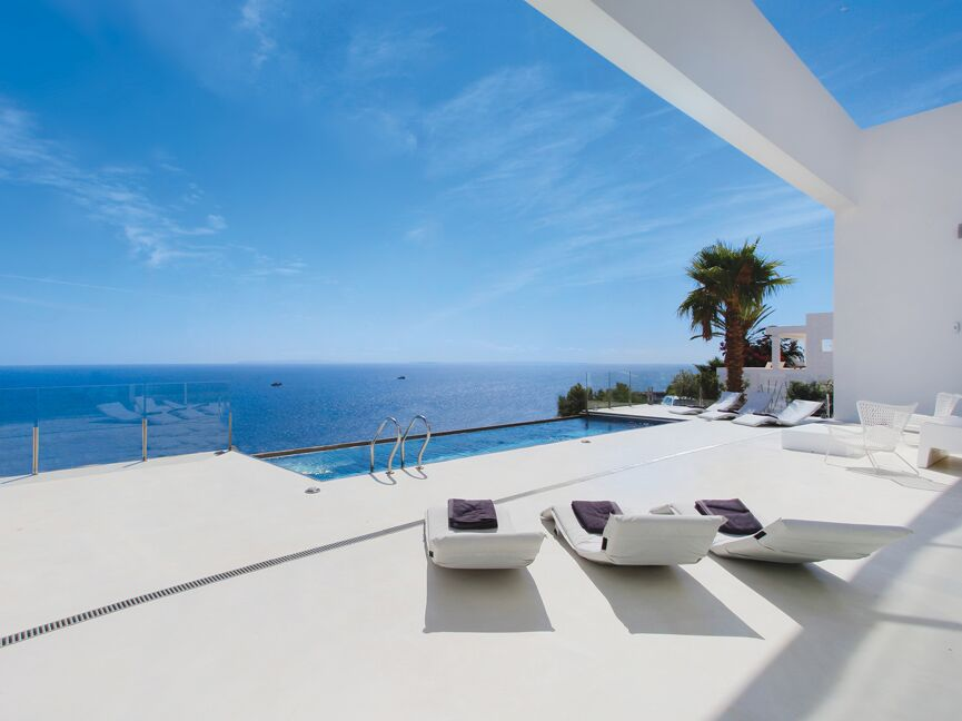 Ibiza - High quality finca with breathtaking sea view (sea view) Caption: Stunning country house for sale, Santa, Eulalia, Ibiza