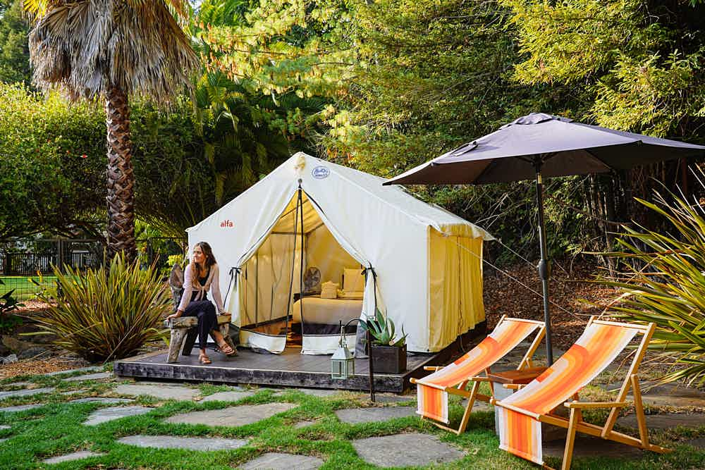 Boon Hotel + Spa Tent Cabin Glamping