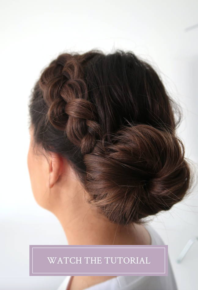 Low bun hair Davines product tutorial
