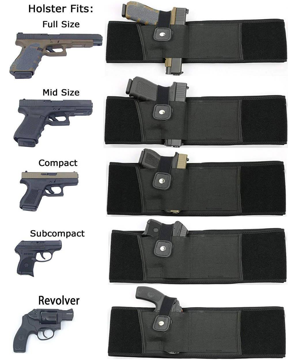 female holsters, female belly band holster, women's gun holster