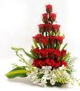 BF Roses & Orchids Basket
