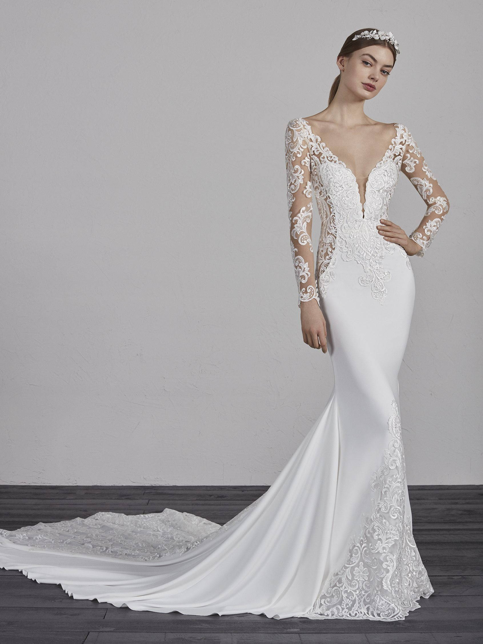 PRONOVIAS enelsa WEDDING DRESS