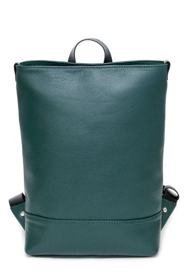 Кожаный зеленый городской рюкзак