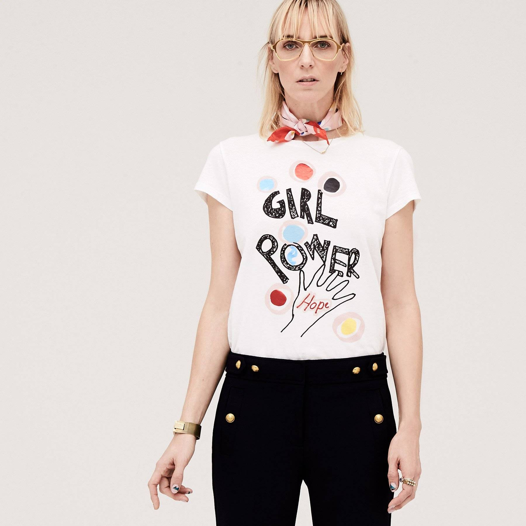 Round Plus Square Girl Power Tee