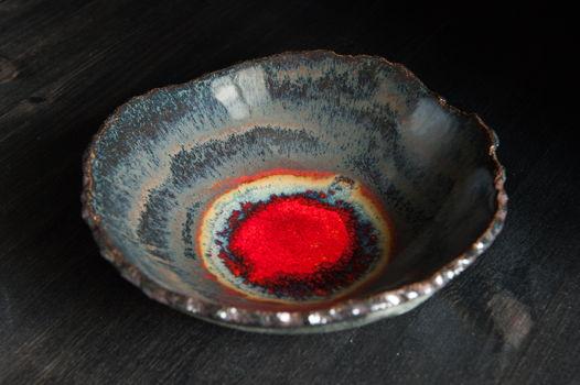 Брутальная керамическая миска ручной работы