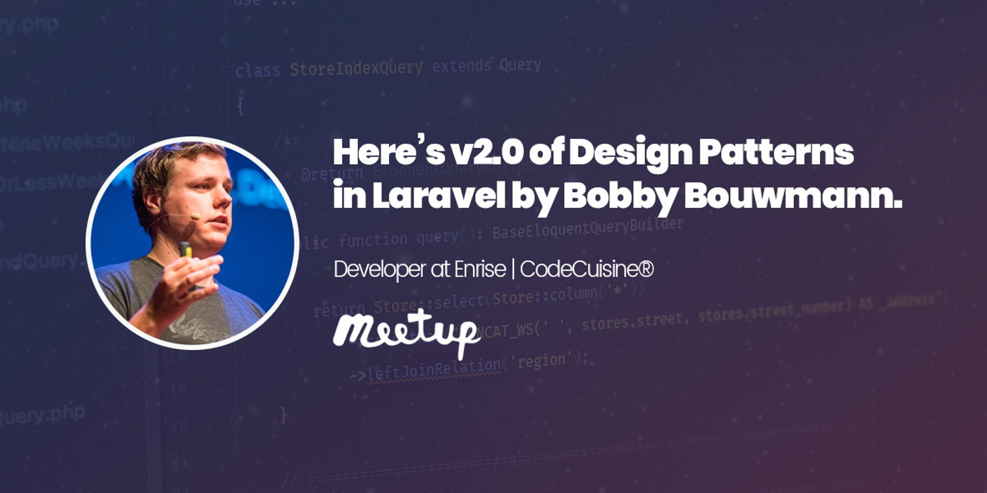 Here's v2.0 of Design Patterns in Laravel by Bobby Bouwmann