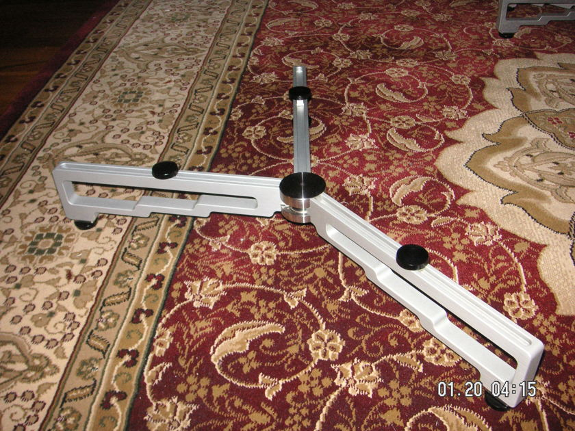 """Stillpoints 9"""" or 11"""" leg  3 or 4 Leg Component Stand in Silver Silver or Black"""