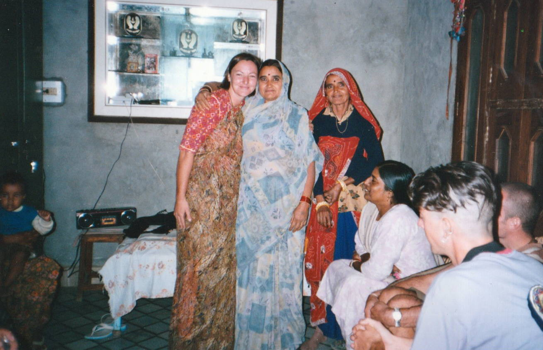 sam in Hanumangarh India with new friends