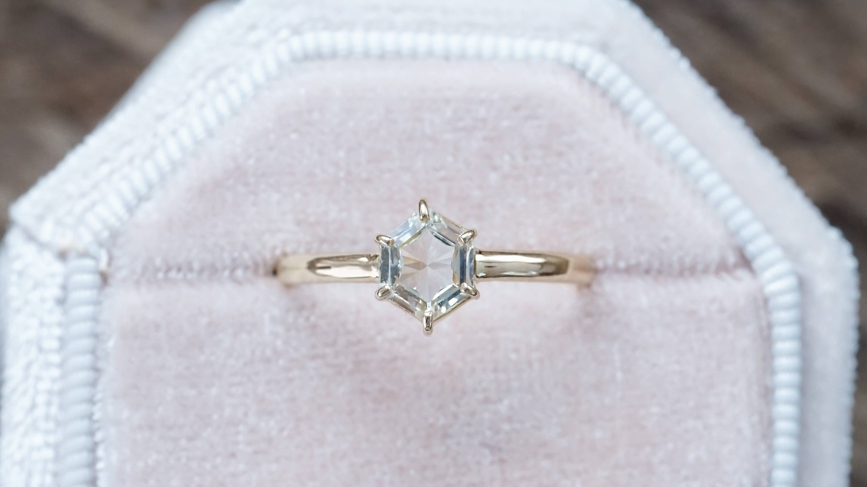 Ethical gold diamond ring
