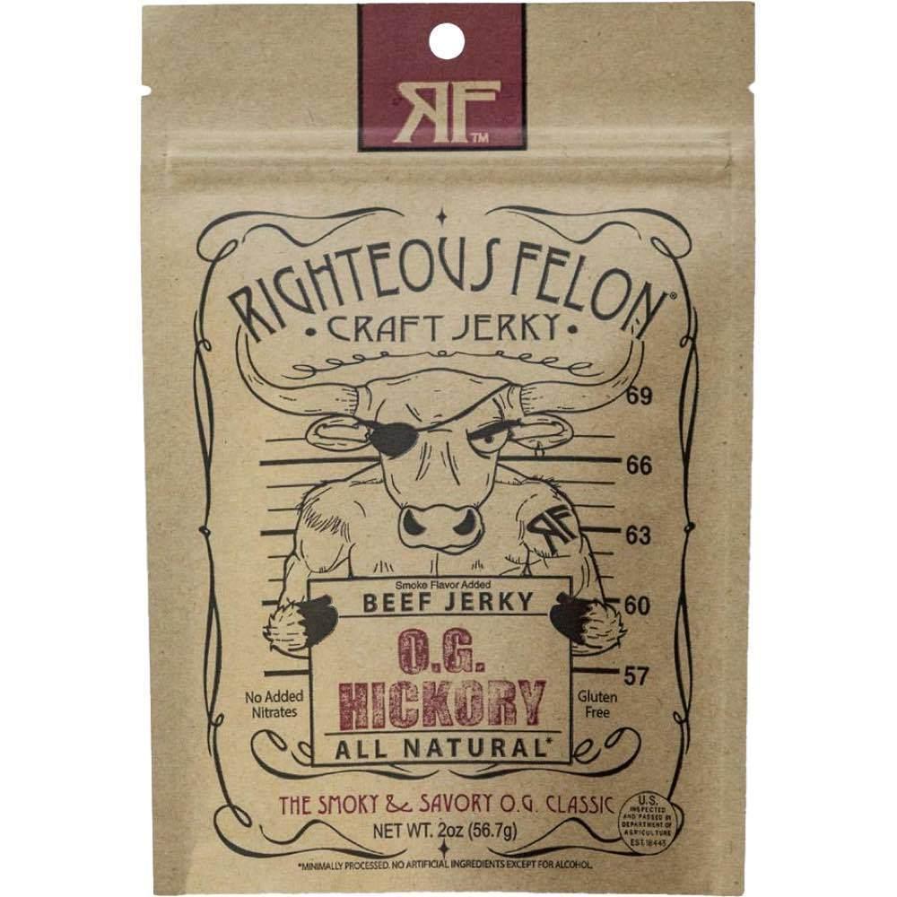 Righteous Felon O.G. Hickory Beef Jerky