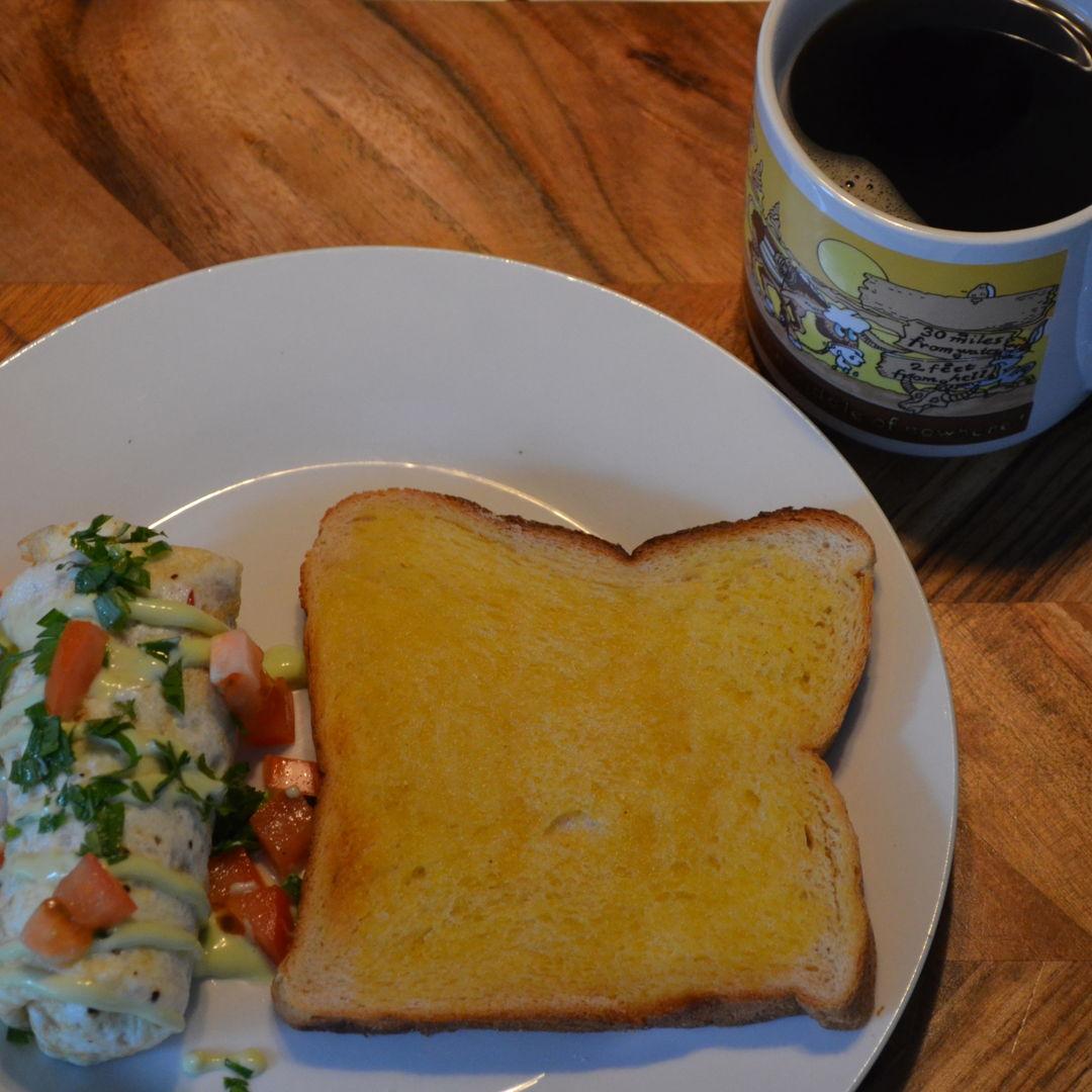 Date: 1 Jun 2020 (Mon) 12th Breakfast: Egg White Omelette [371] [163.2%] [Score: 9.4] Cuisine: Western Dish Type: Breakfast