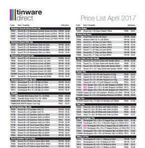 Stock Tin Price List