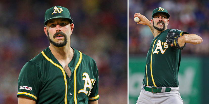 Mike Fiers Baseball Player With Monkey Tail Beard