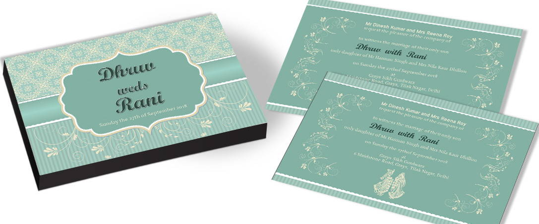Vintage Garden Wedding Invitations