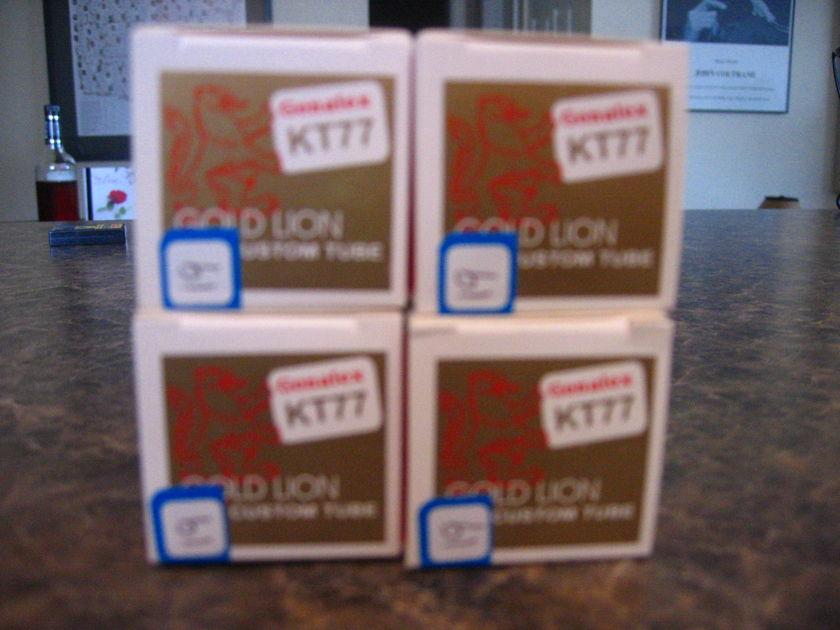 Genelex Gold Lion Reissue  KT77  Matched Quad