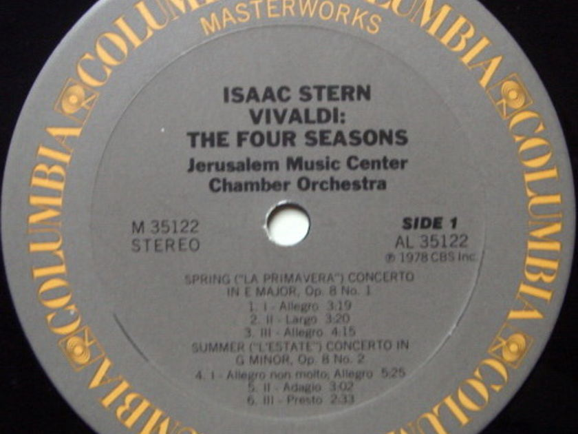 Columbia / ISAAC STERN, - Vivaldi The Four Seasons,  NM!