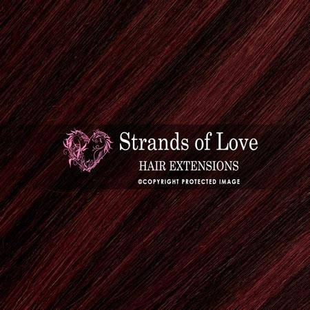 Strands Of Love Hair Extensions Colour Wine Red Highlight