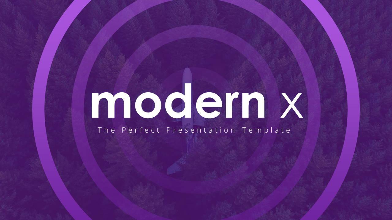 Modern X Digital Marketing Proposal Presentation Template Title