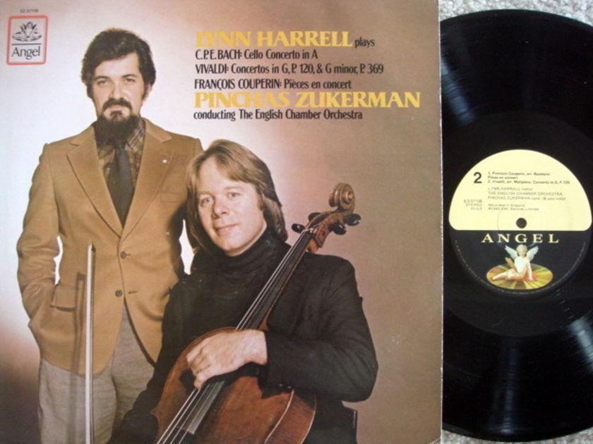 EMI Angel / HARRELL-ZUKERMAN, - Bach-Vivaldi Cello Conertos,  MINT!