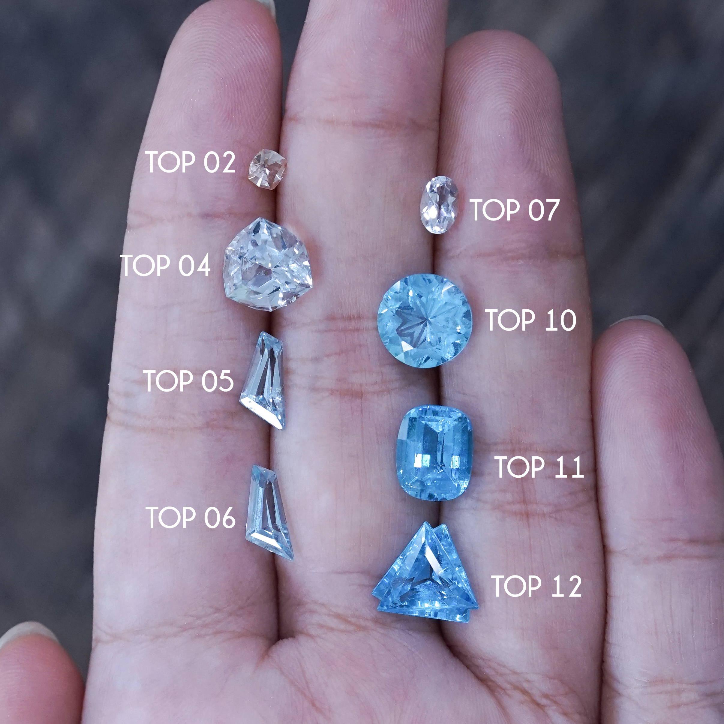 Custom gold topaz ring