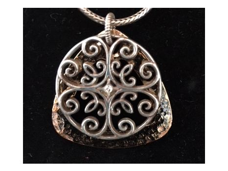 Gold and Silver Overlapping Pendant on Chain by Brighton
