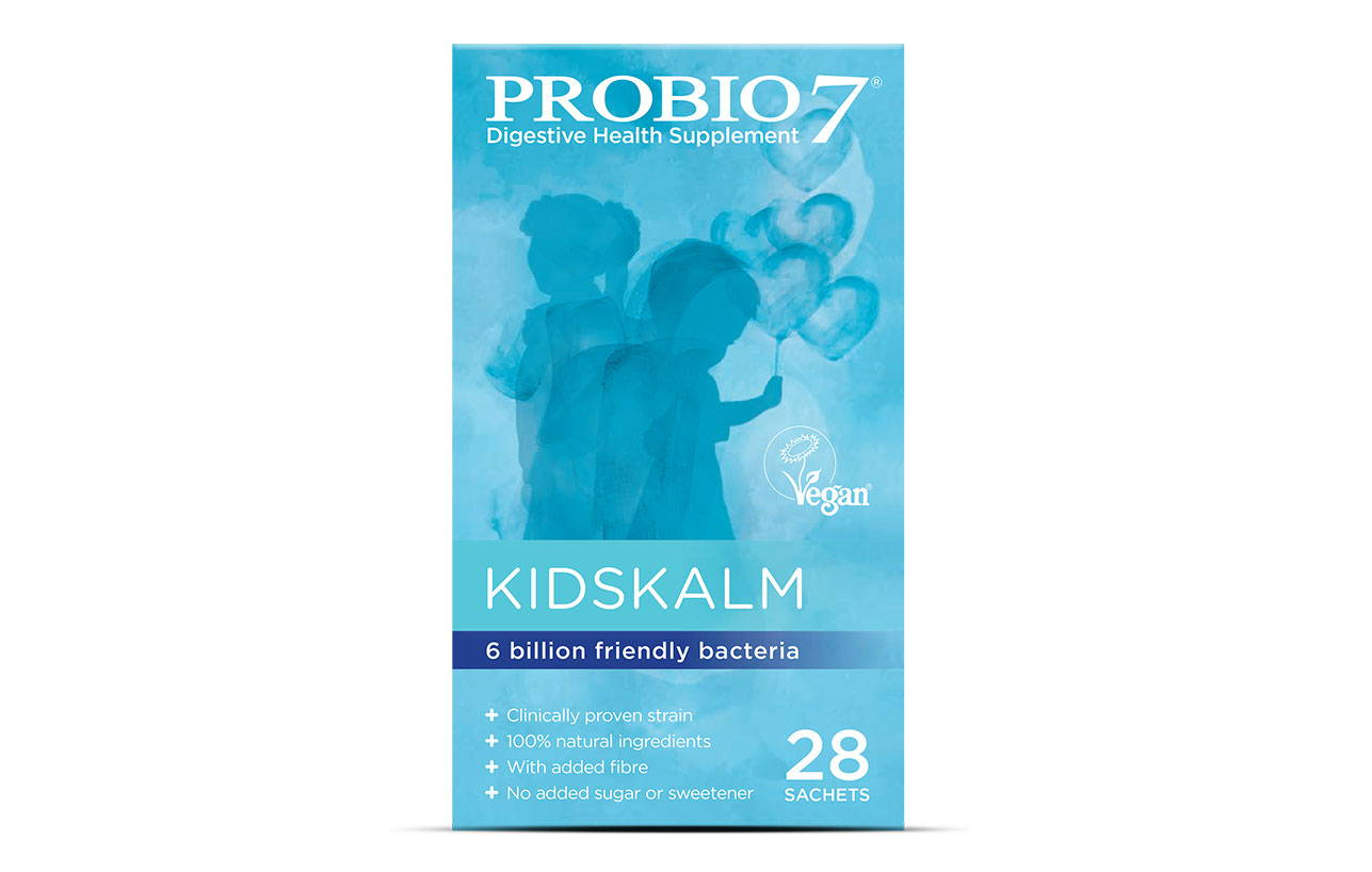 Probio7 Kidskalm. Contains one of the most researched strains of friendly bacteria to support your child's immunity and digestion. For children 12 months+