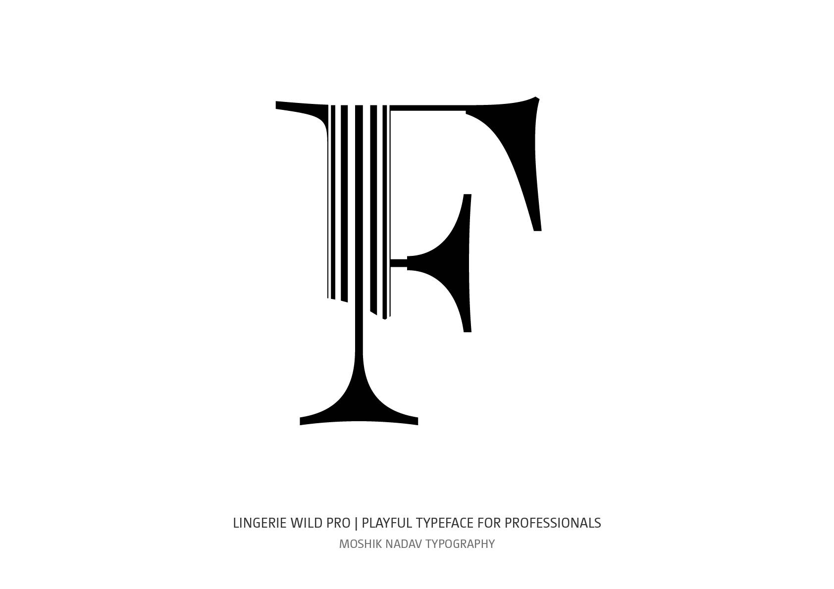 Unique uppercase F for logos and luxury brands by Moshik Nadav Fashion Typography NYC