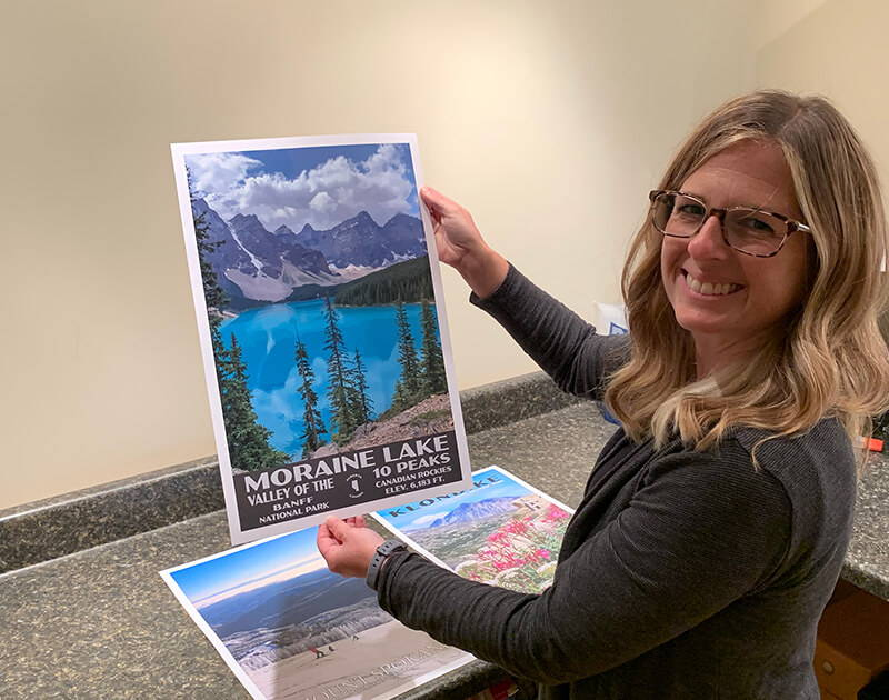 Packaging and shipping custom national park posters and custom travel posters