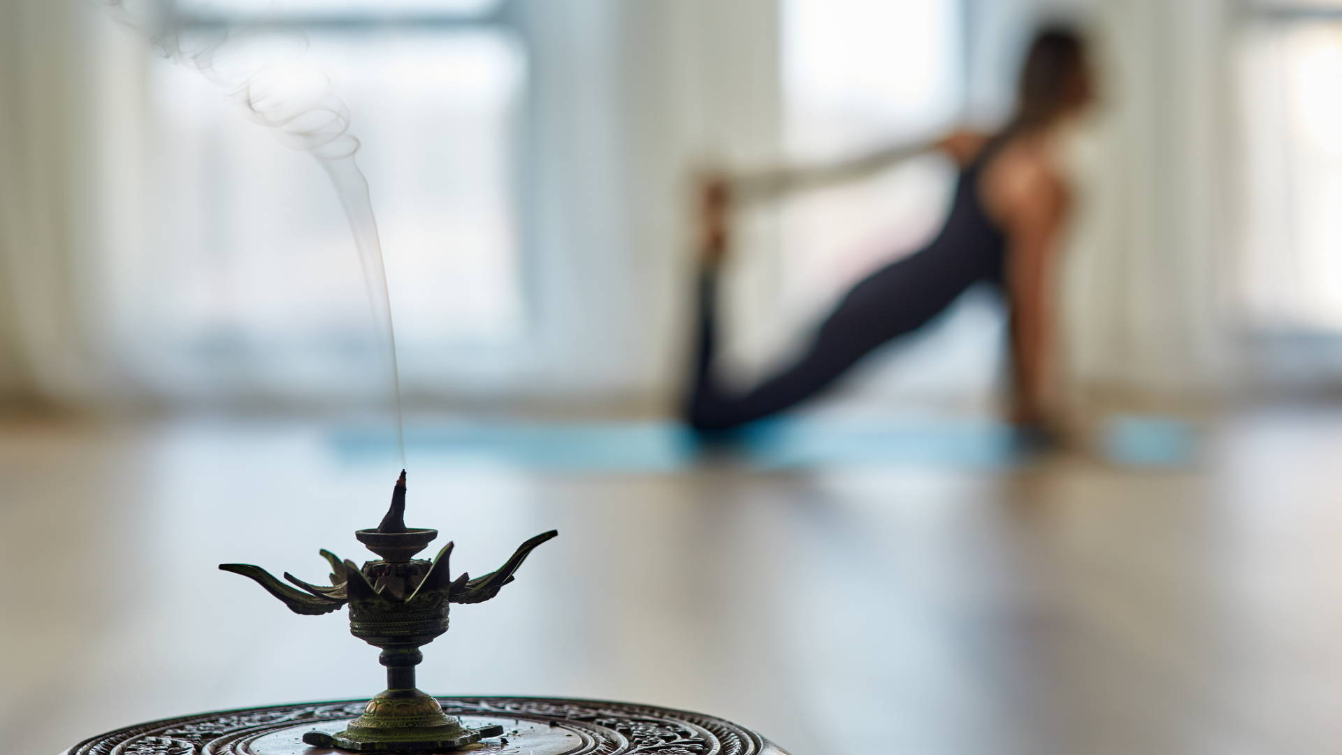 incense and yoga