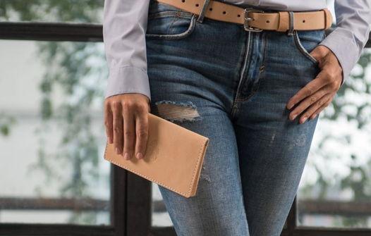 Кожаное портмоне-тревелер, модель Ride, ручная работа