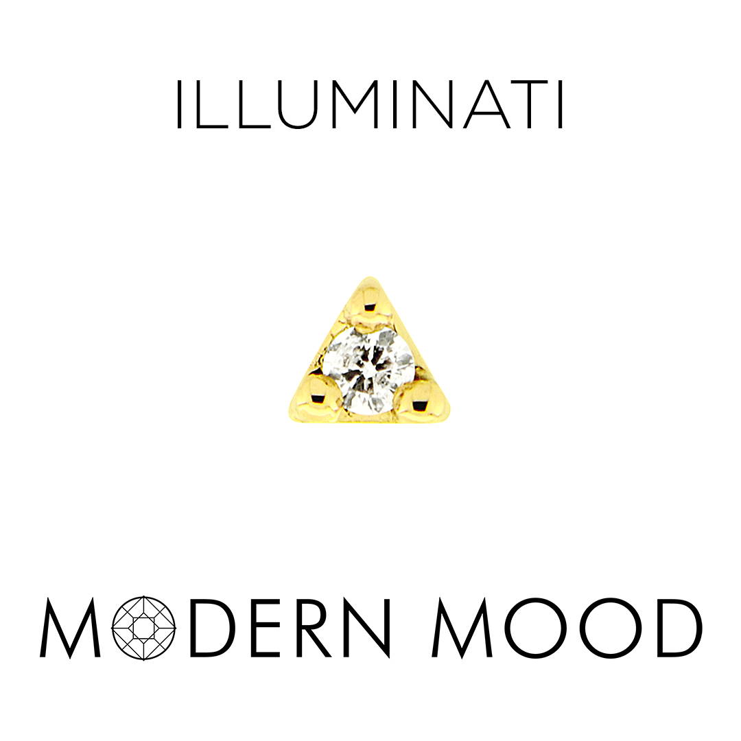 illuminati tiny triangle diamond piercing jewelry