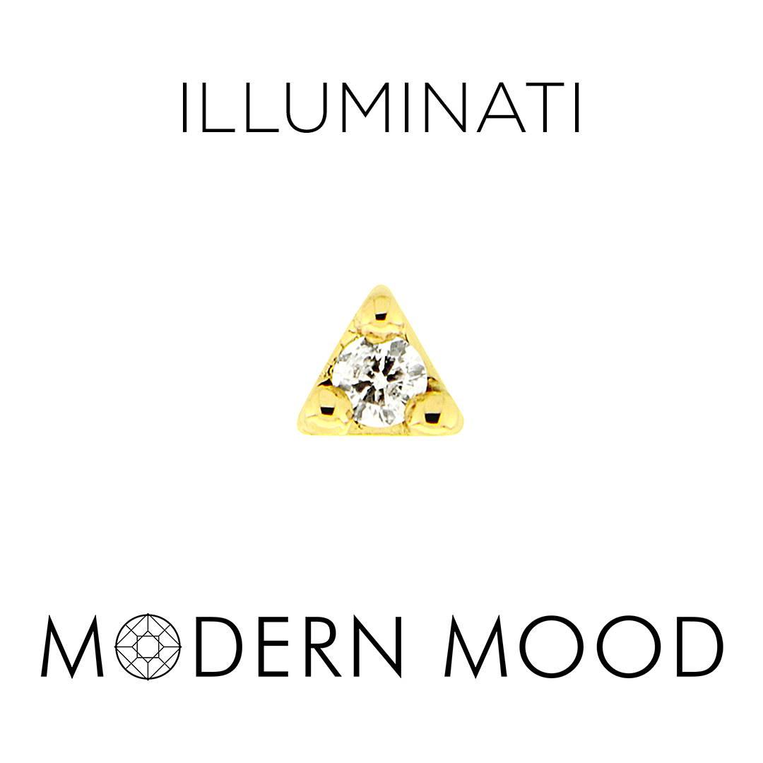 illuminati tiny triangle diamond piercing jewelry