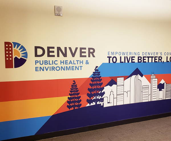 Interior Vinyl Wall Wrap -  Denver Public Health and Environment