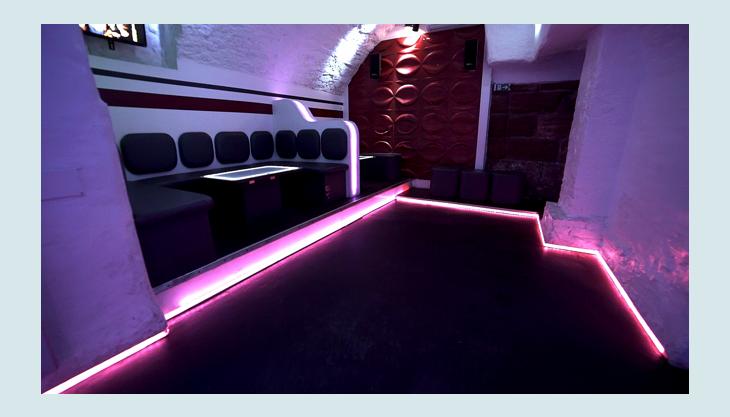 basement sitzreihe led