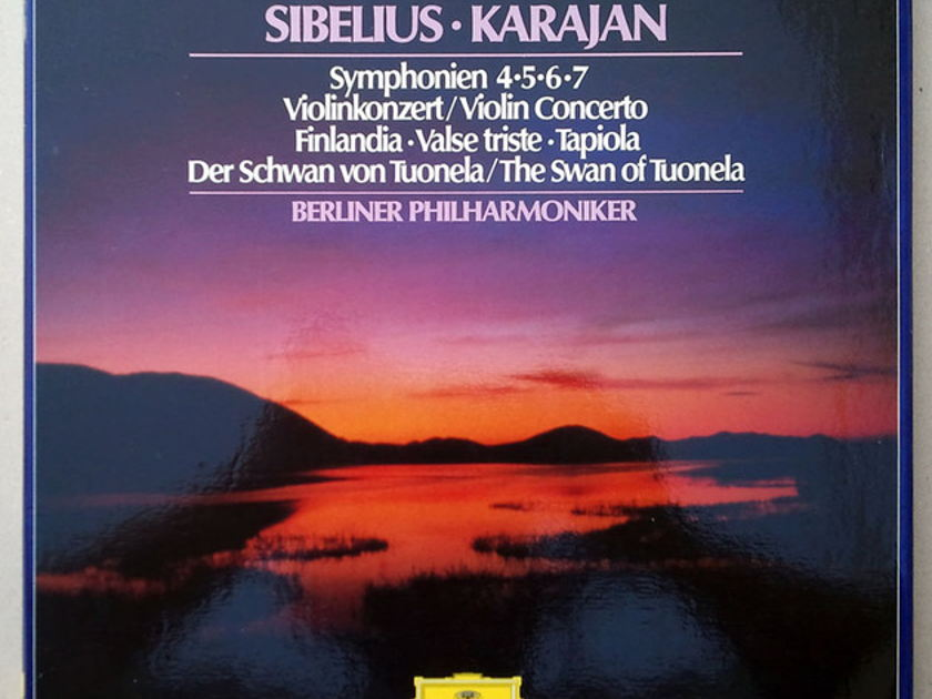 DG | KARAJAN/SIBELIUS - Symphonies Nos. 4, 5, 6, 7, Violin Concerto ... / 4-LP / NM