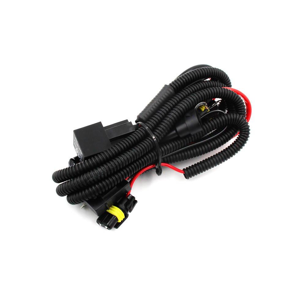 9005 (HB3) LED Headlight DRL Bulb Anti-Flickering Relay Harness