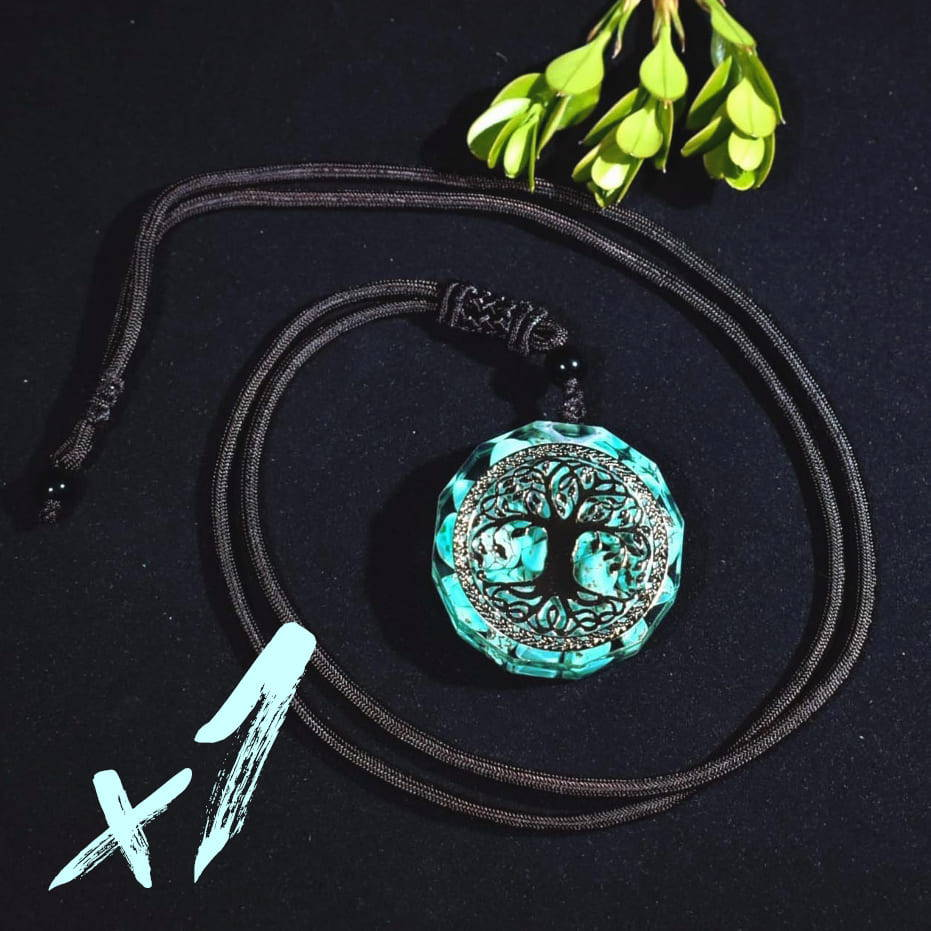 orgonite necklace turquoise, orgonite jewellery,  orgonite necklace bundle