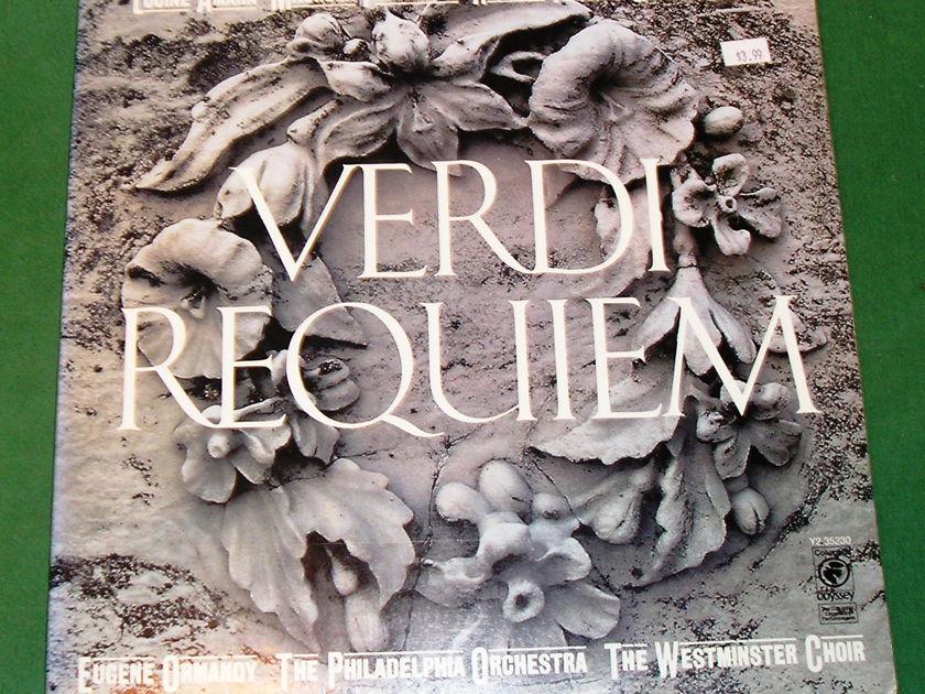 EUGENE ORMANDY/PHILADELPHIA ORCHESTRA  - *VERDI REQUIEM* 1978 COLUMBIA 2-LP ODYSSEY LABEL *  NM 9/10
