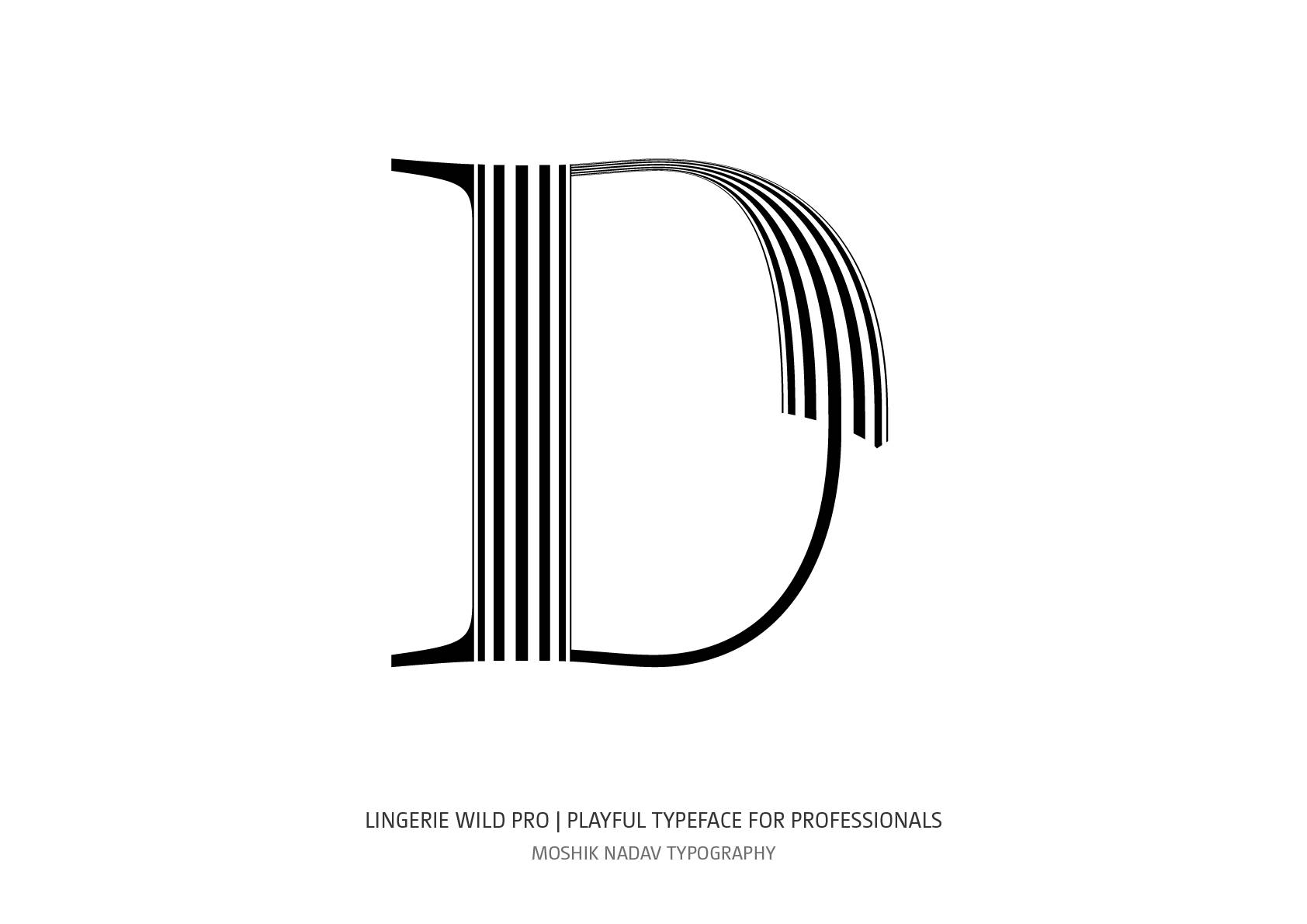 Amazing uppercase D designed for fancy logos and fashion magazines by Moshik Nadav Typography NYC