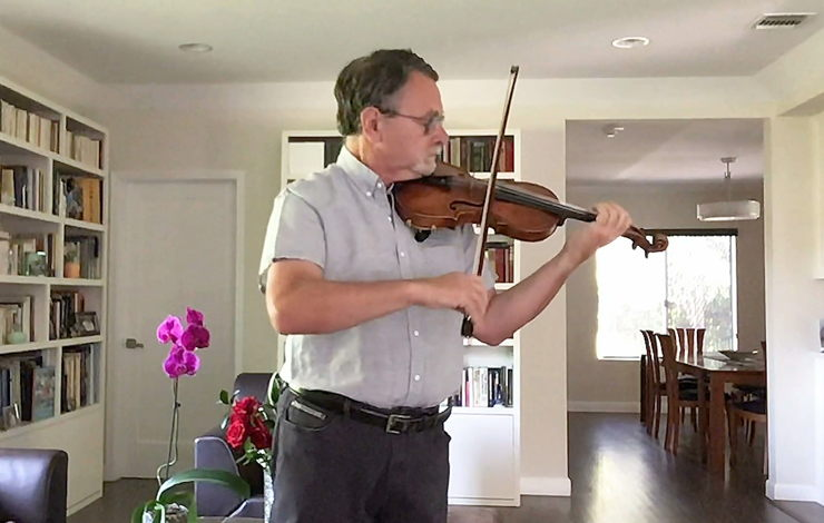 LA Phil Associate Principal Second Violin Mark Kashper performs at home