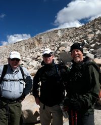 Frank Trotter, Dean Cook and Scott MacKiillop on Mount Whitney's western slope.