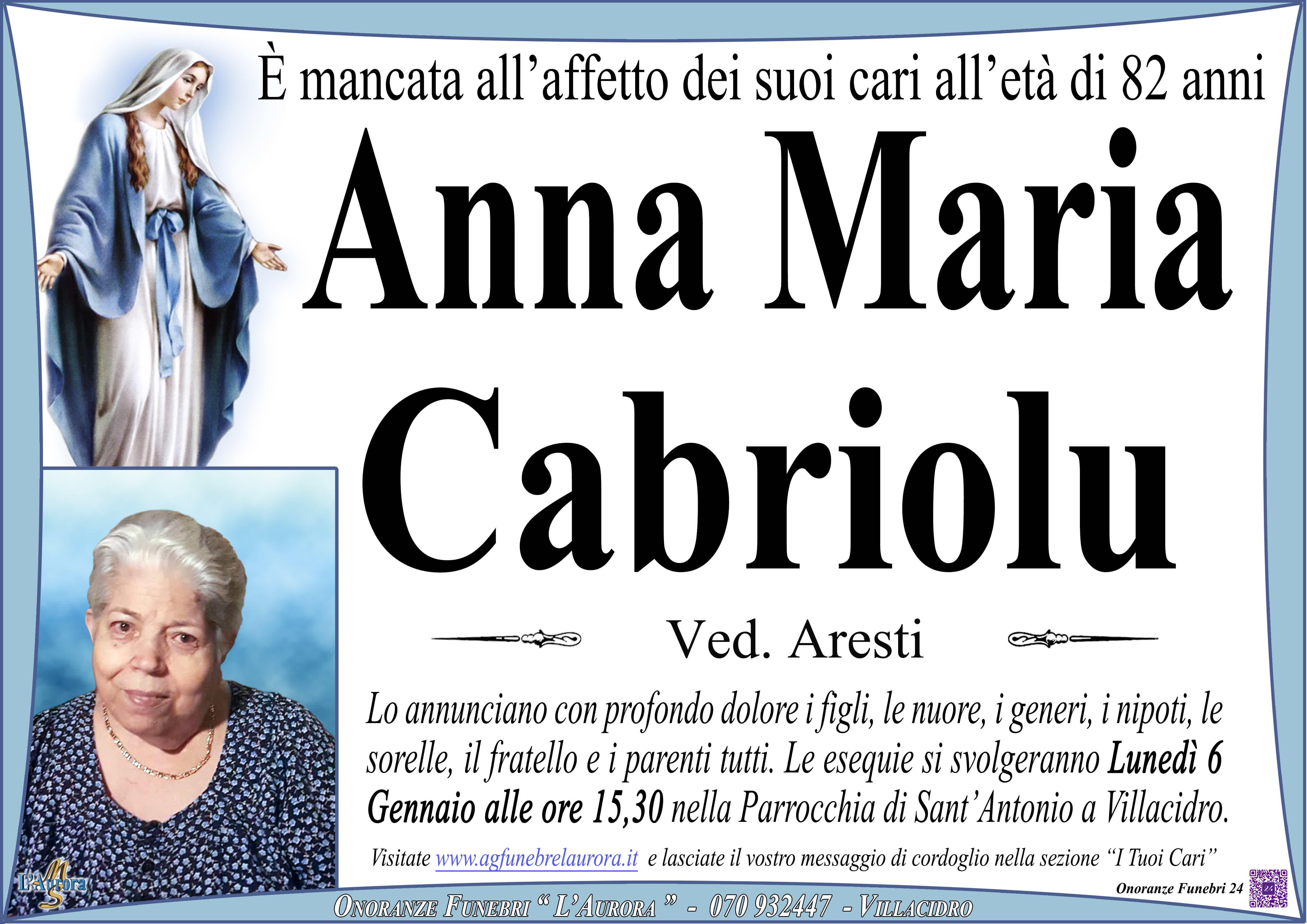 Anna Maria Cabriolu
