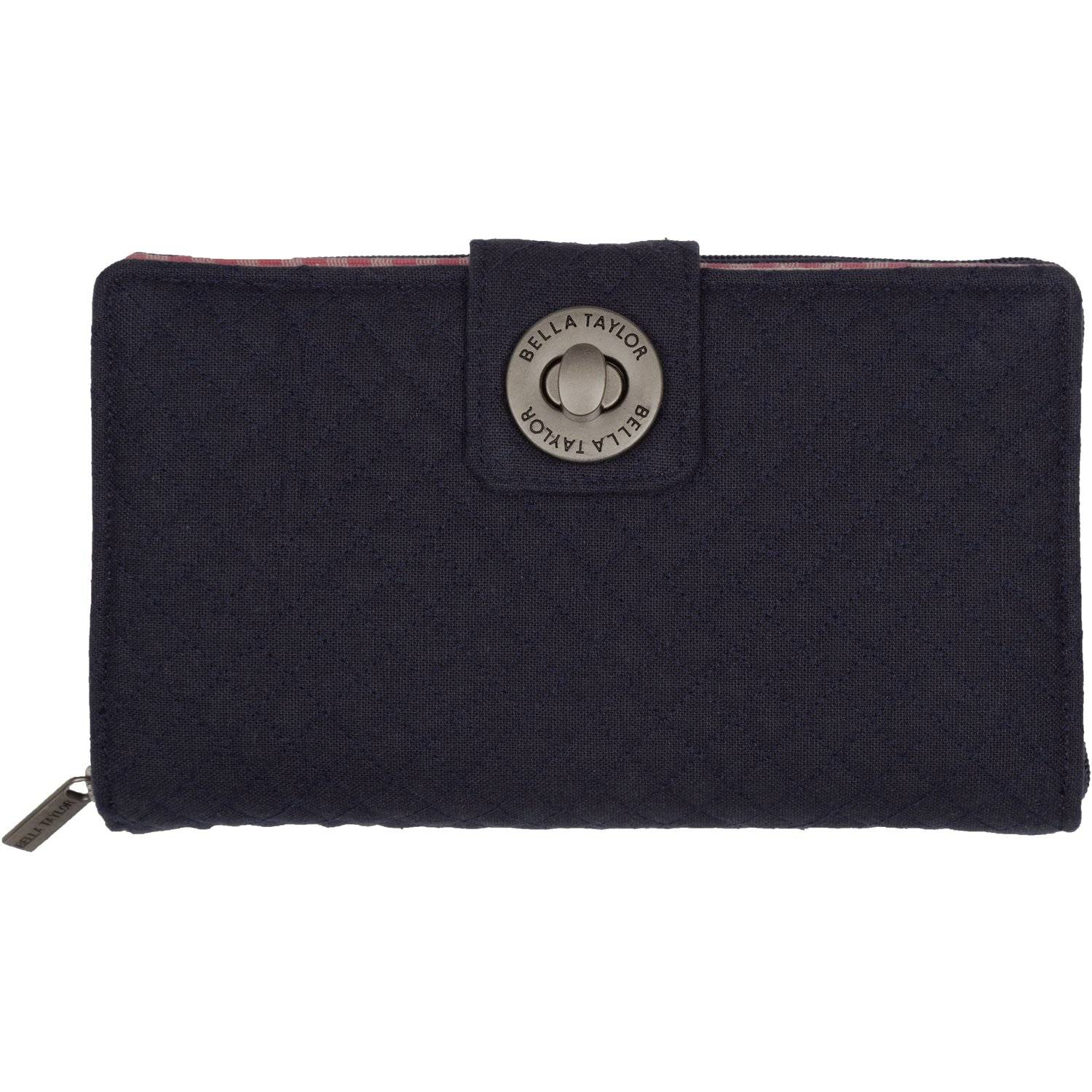 Navy Micro-Diamond Cash System Wallet