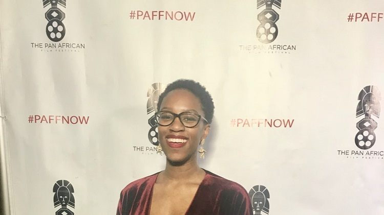 Abena Taylor-Smith at the Pan African Film Festival.
