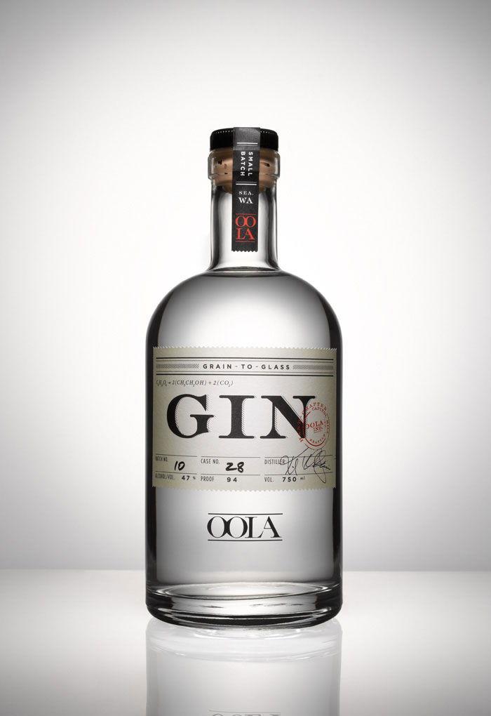 Oola gin the dieline