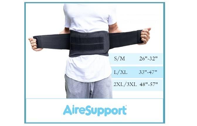 Back brace sizing chart