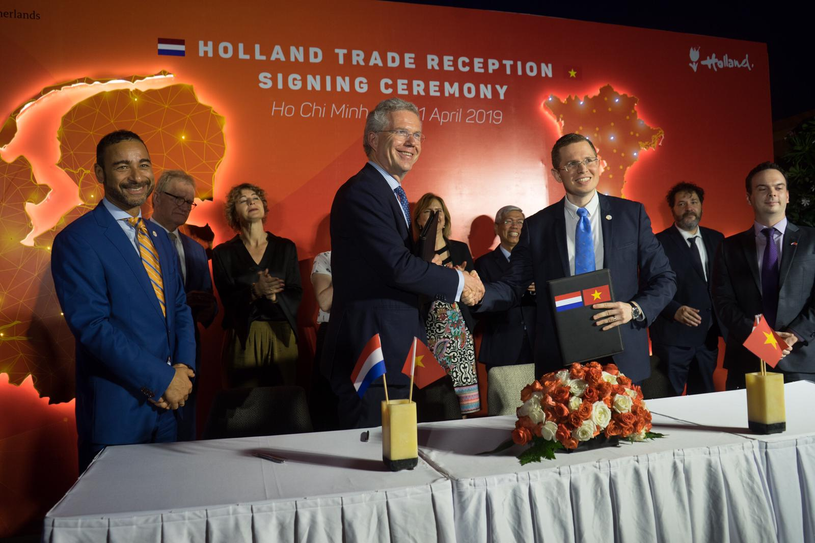 Handelsmissie Vietnam met minister-president Rutte