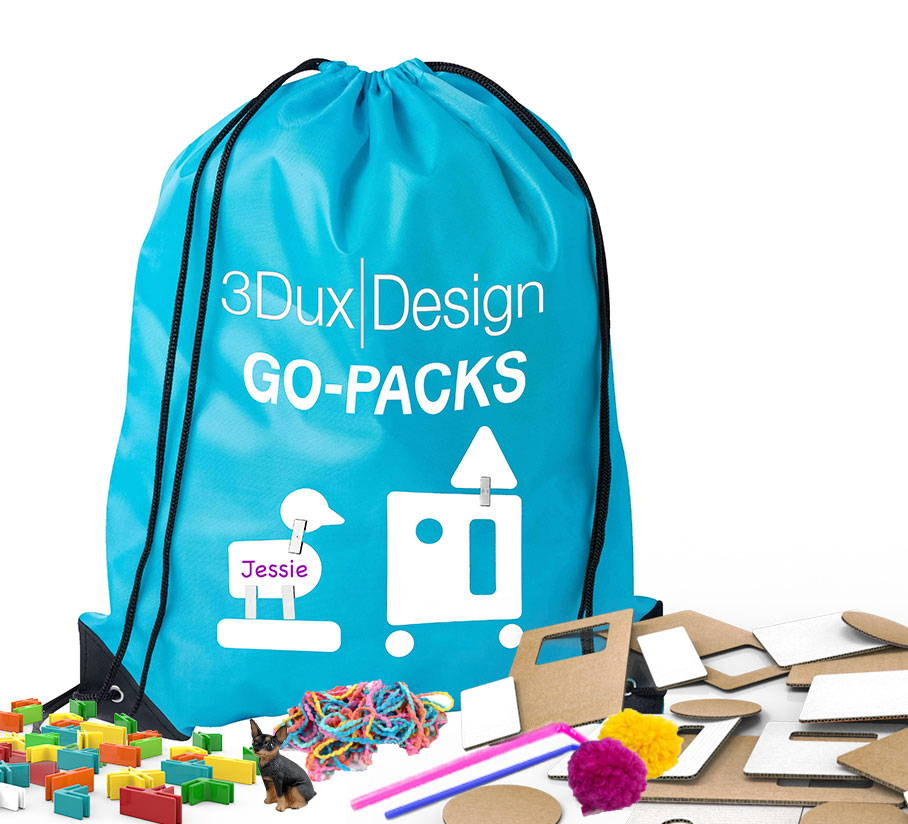 product image of 3duxdesign maker materials for remote learning in backpack